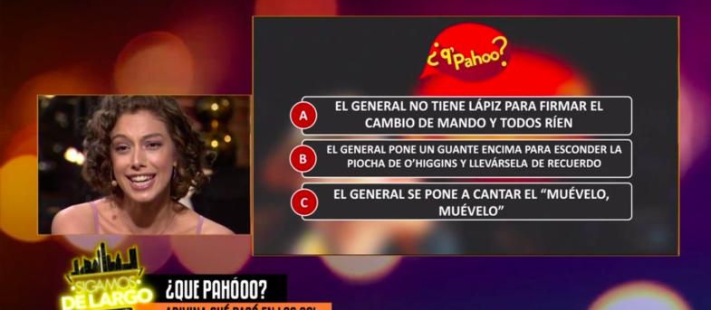 VIDEO|Nathalie Nicloux corrige un pequeño gran detalle sobre Augusto Pinochet en pleno programa de Canal 13