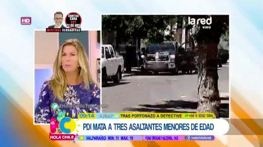Panelista de La Red defendió a delincuentes abatidos por funcionario de la PDI