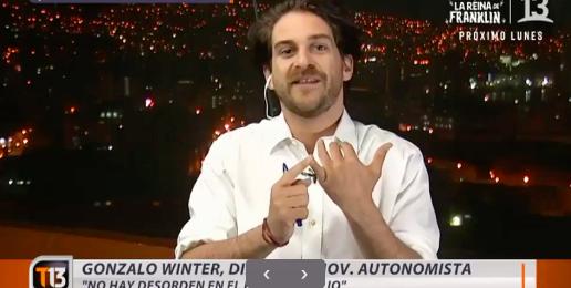Canal 13 cortó al diputado Winter en plena entrevista