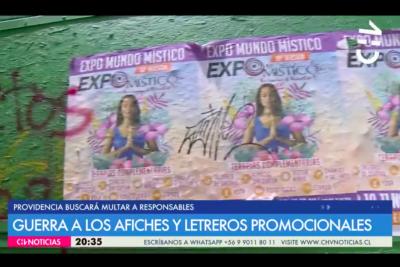La cruzada de Providencia para eliminar los afiches ilegales de la vía pública