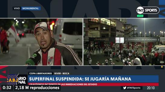 """""""VIDEO   Aplausos: El hincha que todos querían escuchar tras los incidentes de la frustrada final de la Libertadores"""""""