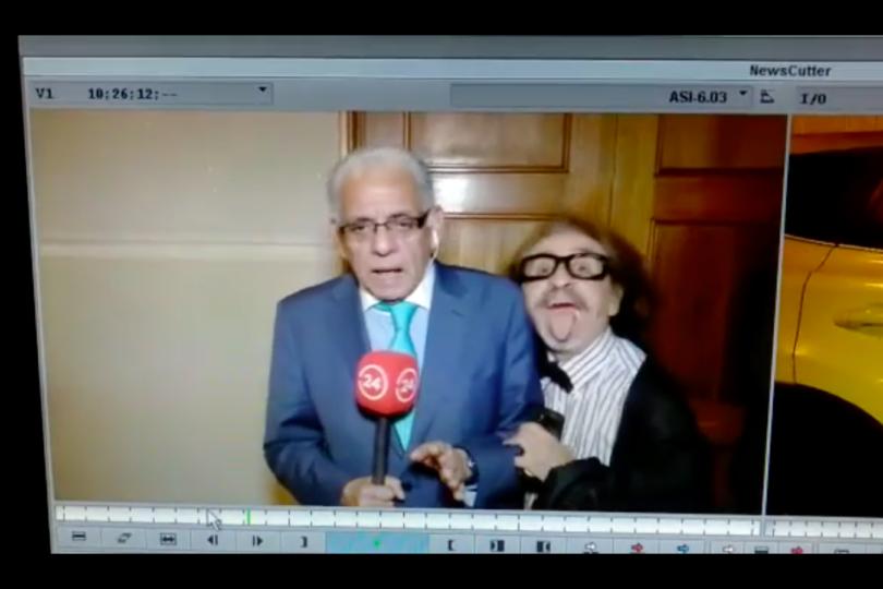 VIDEO |Diputado Florcita Alarcón irrumpió en pleno despacho de Fidel Oyarzo para 24 Horas