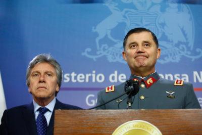 Comisión de Defensa escuchará explicaciones del ministro Espina y del Comandante en jefe del Ejército