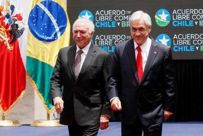 Presidentes Piñera y Temer firman Tratado de Libre Comercio entre Chile y Brasil