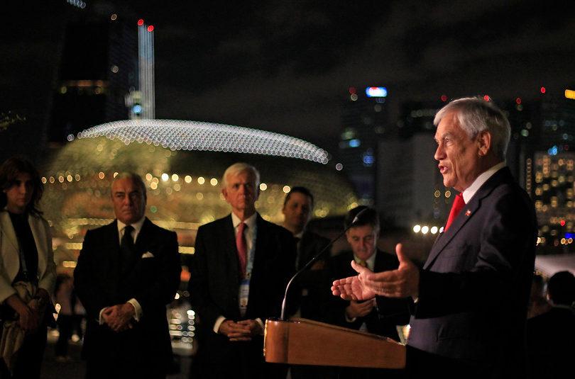 """Piñera tras breve encuentro con Vladimir Putin: """"Rusia juega un rol estelar en la política mundial"""""""