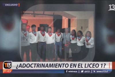 """Reportaje de Canal 13 sobre """"adoctrinamiento"""" en el Liceo 1 suma avalancha de denuncias en el CNTV"""