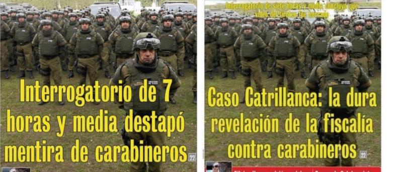 Cambio de titular en portada de LUN por Carabineros y Catrillanca genera avalancha de comentarios