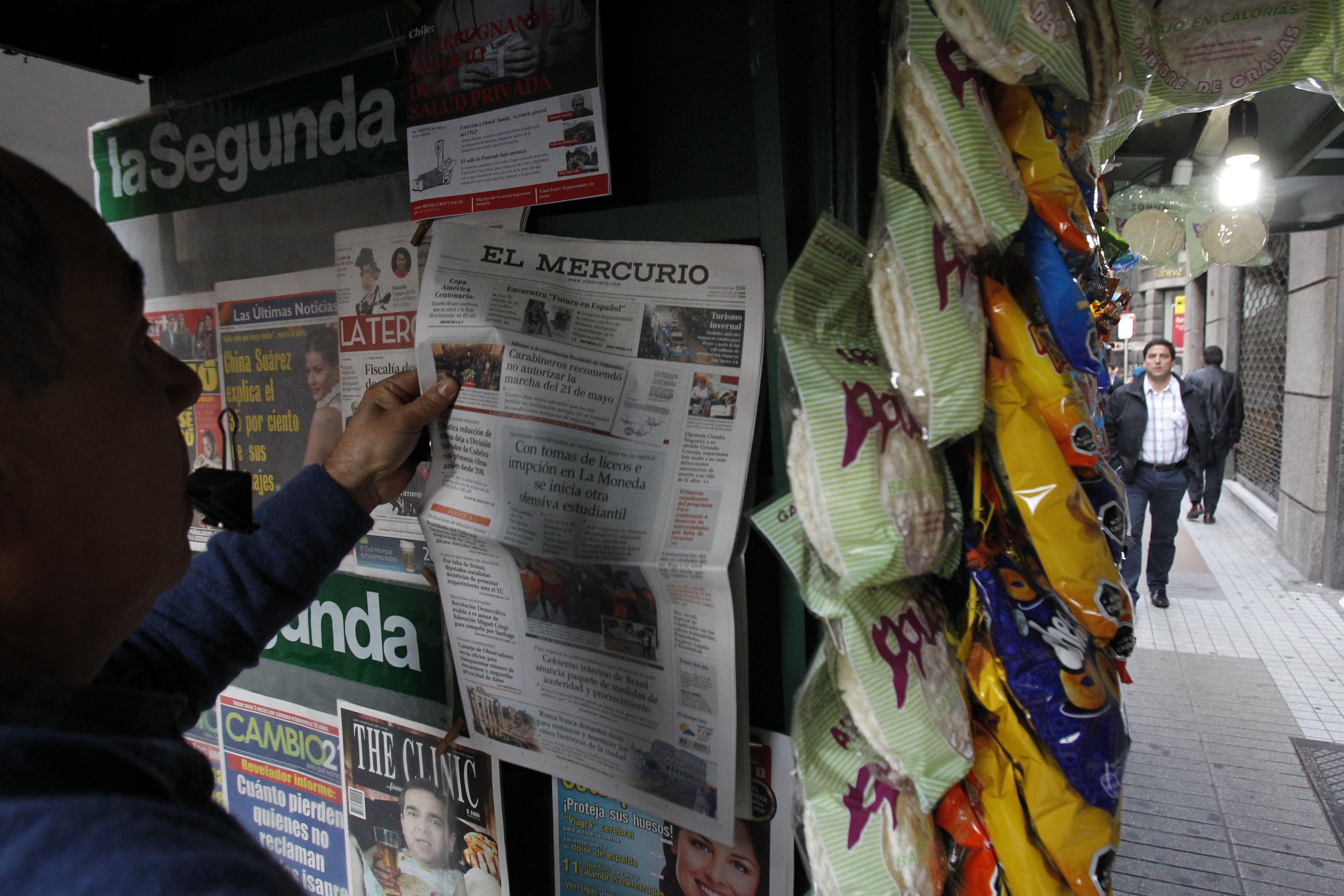Cerca de 50 trabajadores de cinco diarios regionales de El Mercurio son despedidos