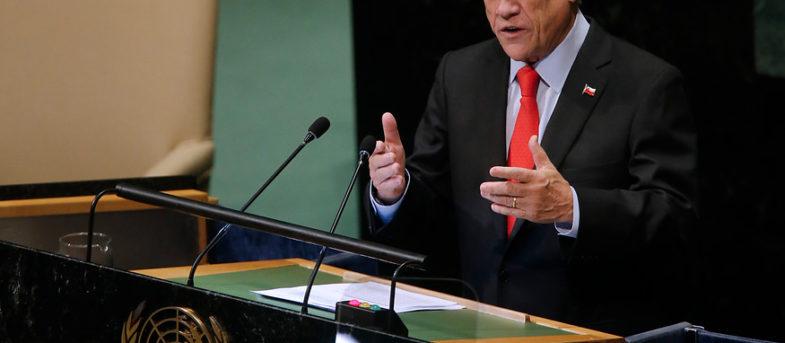 Matamala viraliza el discurso de Piñera en la ONU donde destacaba el Pacto Migratorio que rechazó
