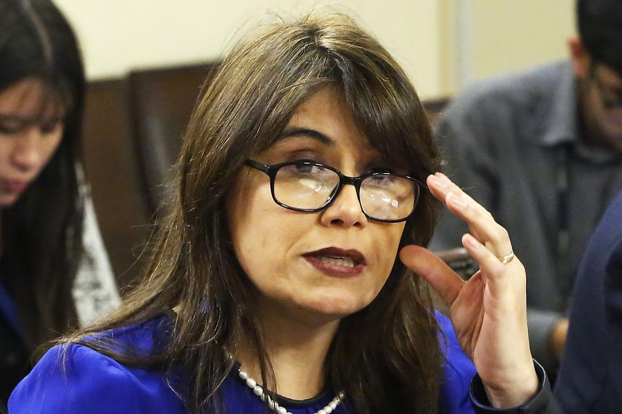 """""""Javiera Blanco llegó a la Fiscalía Nacional para declarar como imputada en caso Ascar"""""""