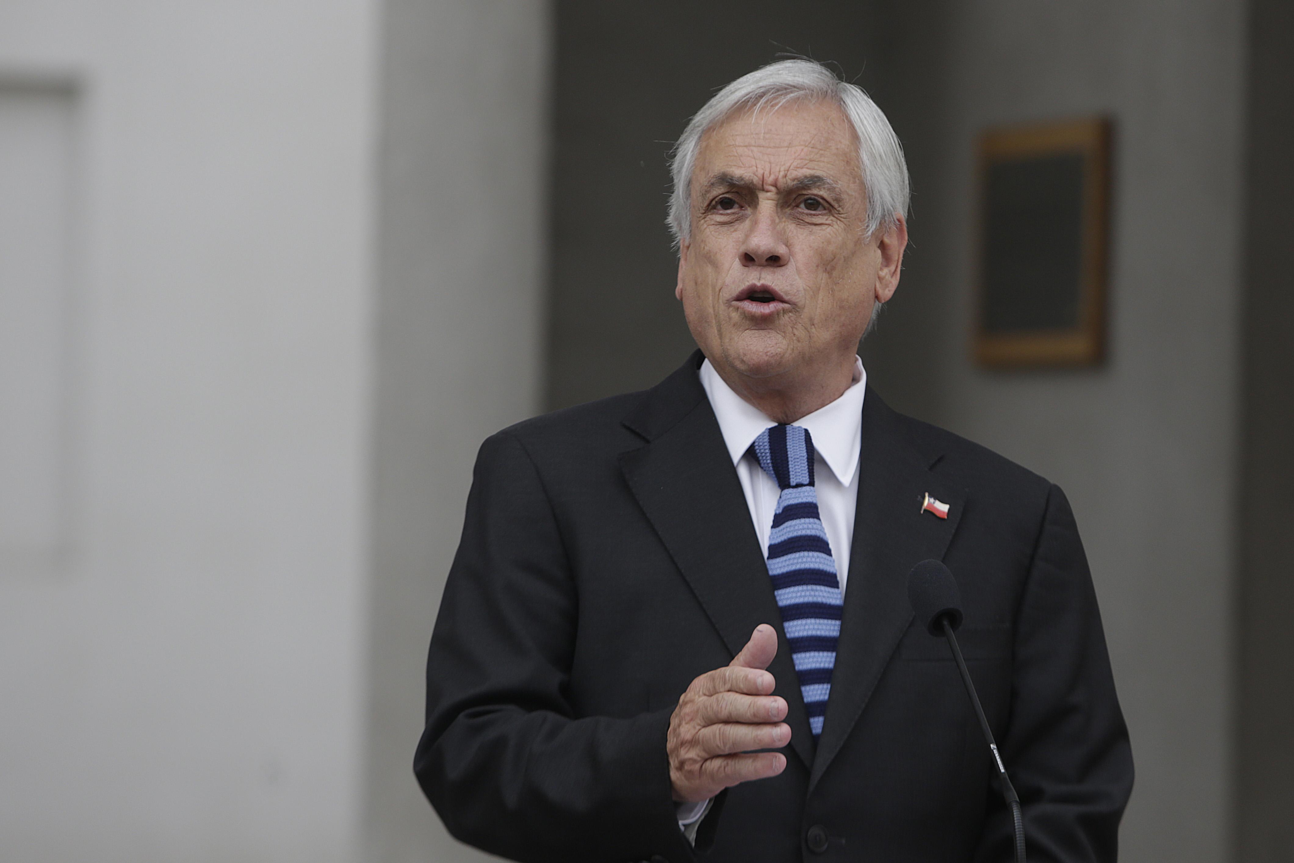 """Piñera: """"Los que están reivindicando atropellos a los DD.HH. y un gobierno no democrático, no caben en Chile Vamos"""""""