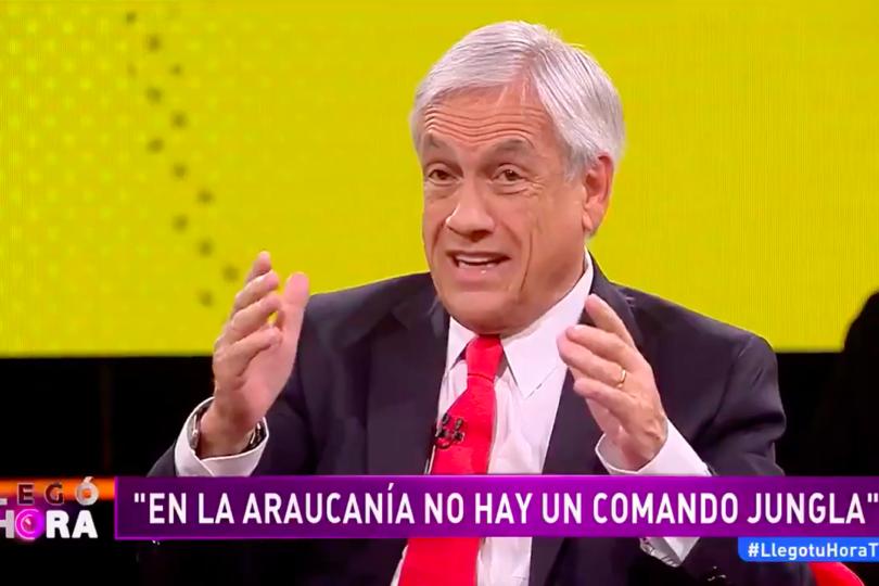 """VIDEO   El momento en que Piñera asegura que las tanquetas en La Araucanía """"no son para atacar, son para defenderse"""""""