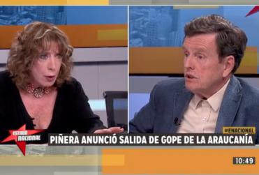 """Carlos Larraín dice que Catrillanca murió """"de noche en confuso incidente"""" y recibe respuesta en vivo de ex ministra Hardy"""