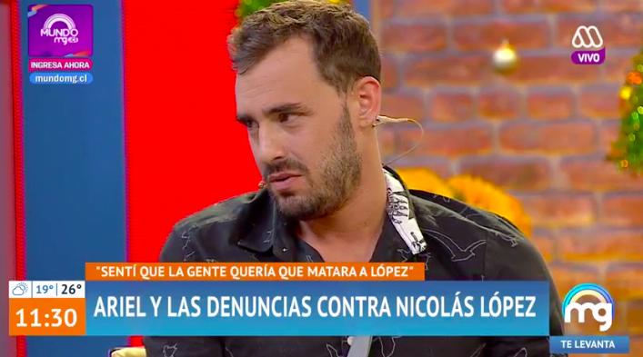 """Ariel Levy se defiende de críticas por su silencio en caso de Nicolás López: """"Sentí que la gente quería que lo matara"""""""
