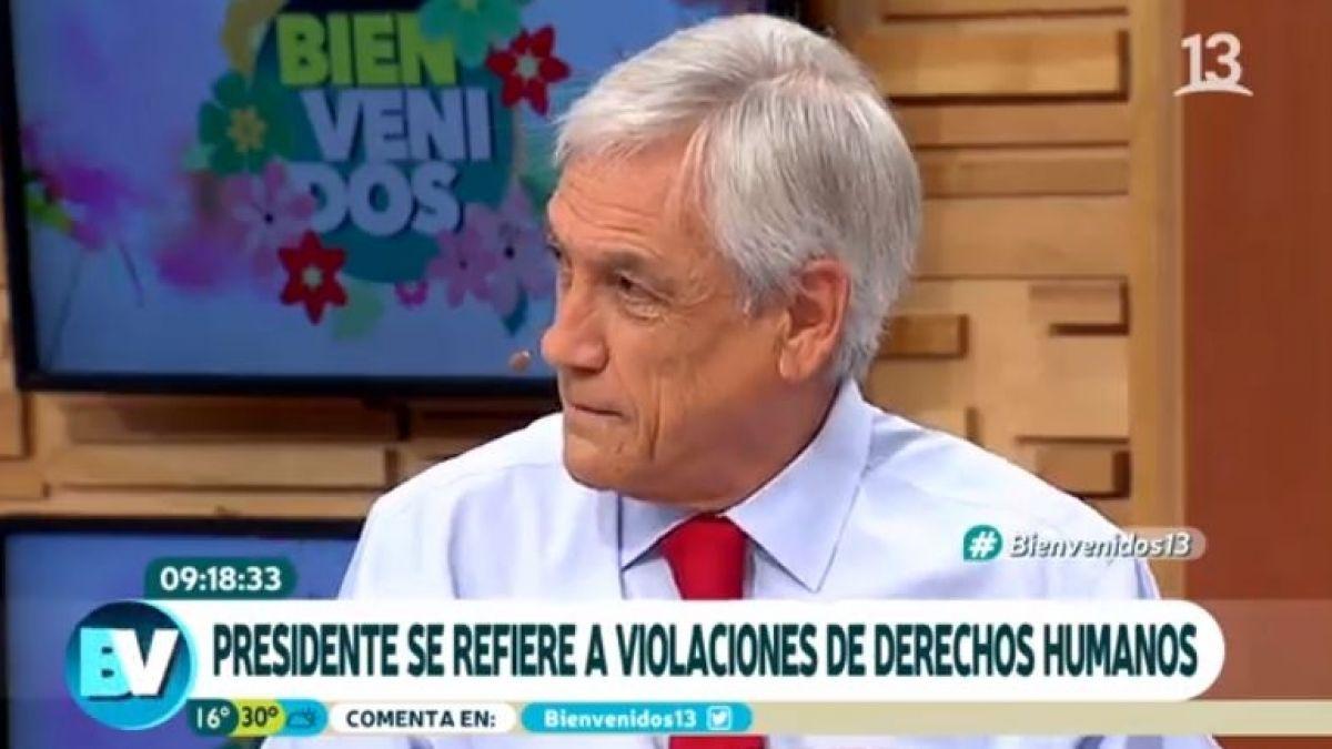 """""""VIDEO   Tenso momento cuando panelista del Bienvenidos le dice a Piñera que su"""