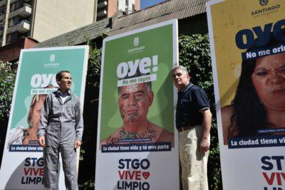 """""""Santiago Vive Limpio"""": la campaña municipal que incentiva a vecinos a cuidar la comuna"""