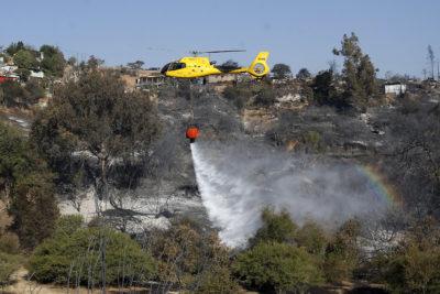 Reporte Onemi: ocho comunas con alerta roja y 44 incendios forestales