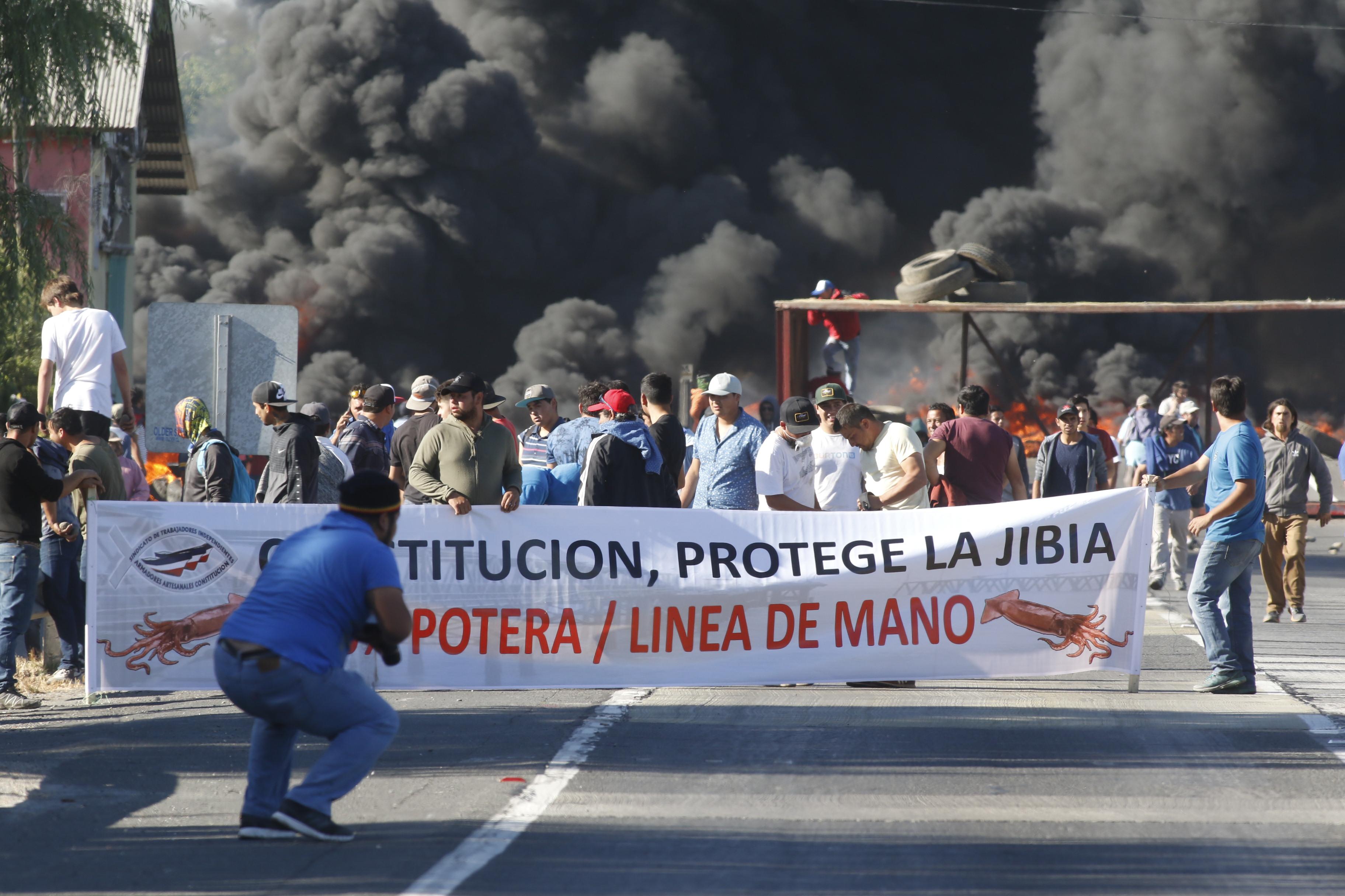 """Pescadores artesanales por Ley de la Jibia: """"Si Piñera aplica veto presidencial, no tendrá sentido tener un Congreso en Chile"""""""