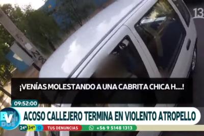 VIDEO | Hombre fue atropellado por defender a ciclista de acosador