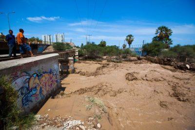 Se decreta alerta amarilla en Arica por peligro de aluviones y derrumbes