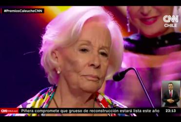 VIDEO | Los minutos más emotivos de los Premios Caleuche con el reconocimiento a la trayectoria a Delfina Guzmán