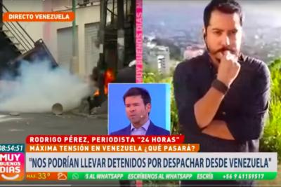 VIDEO |Periodista chilena en Venezuela que acusó montaje del equipo de TVN terminó dando explicaciones