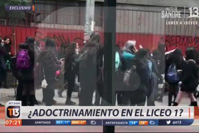 """Canal 13 gana primera batalla judicial: desestiman recurso de la Defensoría de la Niñez por reportaje sobre """"adoctrinamiento"""" en Liceo 1"""