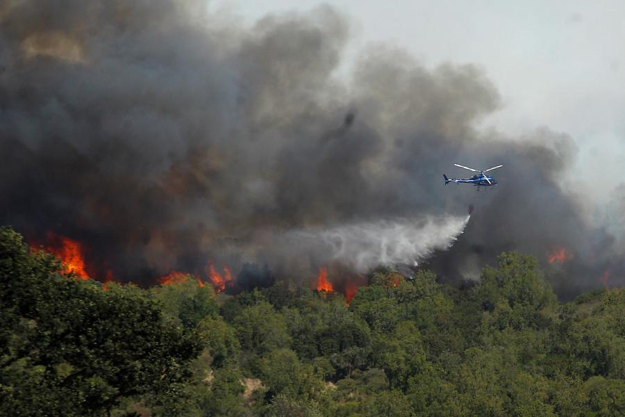 """""""Incendio forestal consume 250 hectáreas en Requínoa"""""""