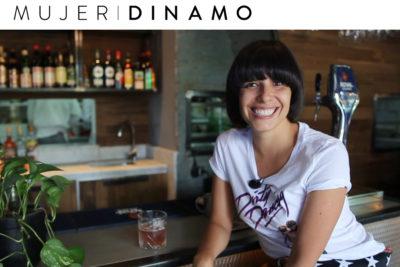En la barra con la actriz Dayana Amigo