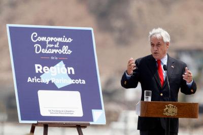 Presidente Piñera presenta el Plan de Desarrollo Regional de Arica