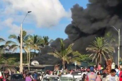 Queman Fiscalía y Registro Civil de Rapa Nui en protesta por homicidio