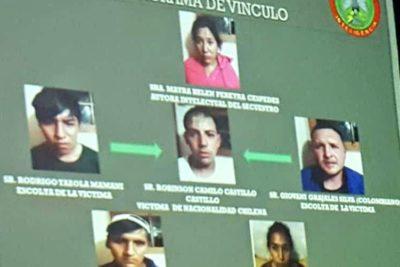 Policía de Bolivia rescata a chileno secuestrado y detiene a cinco involucrados