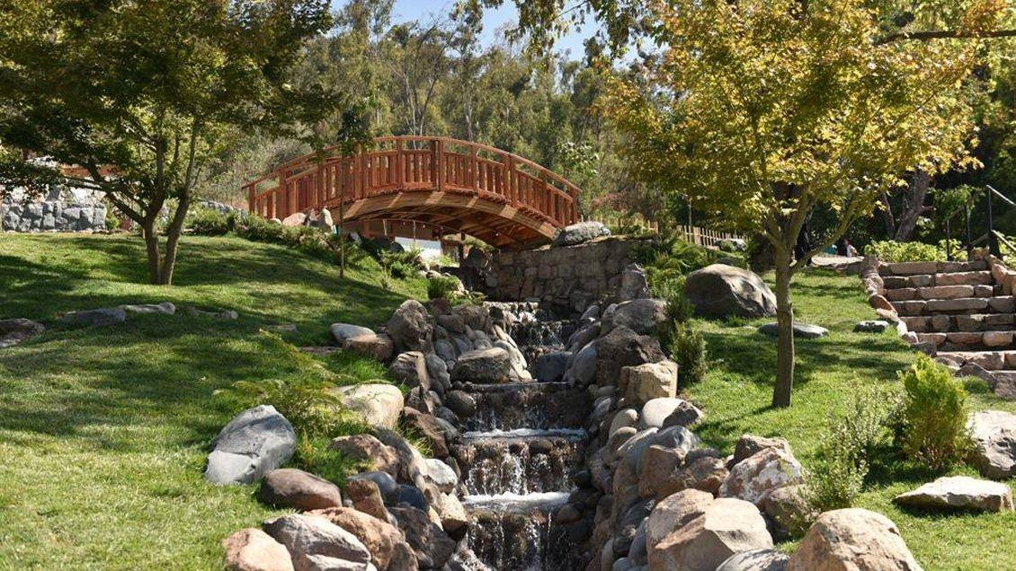 """""""Parque Metropolitano sobre el Jardín Japonés:"""