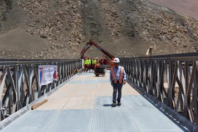 MOP habilitó puente mecano en ruta que une Arica e Iquique