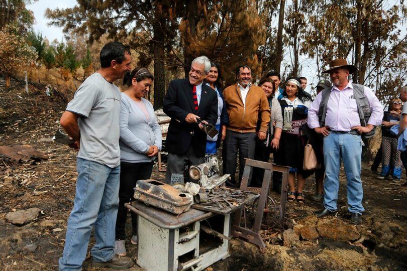 Sebastián Piñera: Se ha respondido bien a los peores incendios en décadas