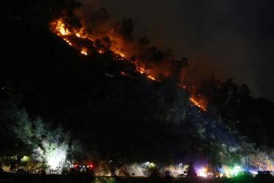 Incendio en cerro San Cristóbal: descartan presencia del Ten Tanker