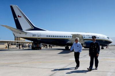 Falla eléctrica provocó la paralización del avión presidencial