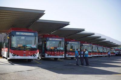 Mañana comienzan a operar 120 nuevos buses ecológicos del Transantiago