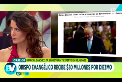 VIDEO  Robo versus violación de niños: la frase de Tonka Tomicic sobre el obispo Durán que le valió avalancha de críticas