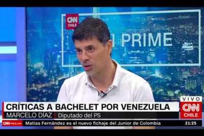 """VIDEO  """"La media perso"""": particular frase en TV de Marcelo Díaz a la UDI tras nuevo emplazamiento a Bachelet por Venezuela"""