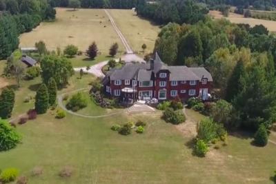 Toma aérea muestran la real distancia entre la casa de Matías Pérez Cruz y el lugar donde expulsó a las mujeres