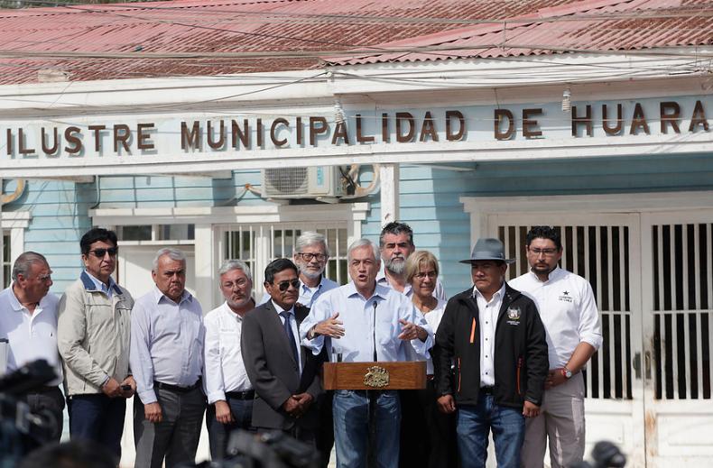 Piñera señala que reconstrucción en zonas afectadas del norte tendrá un costo de $60 mil millones
