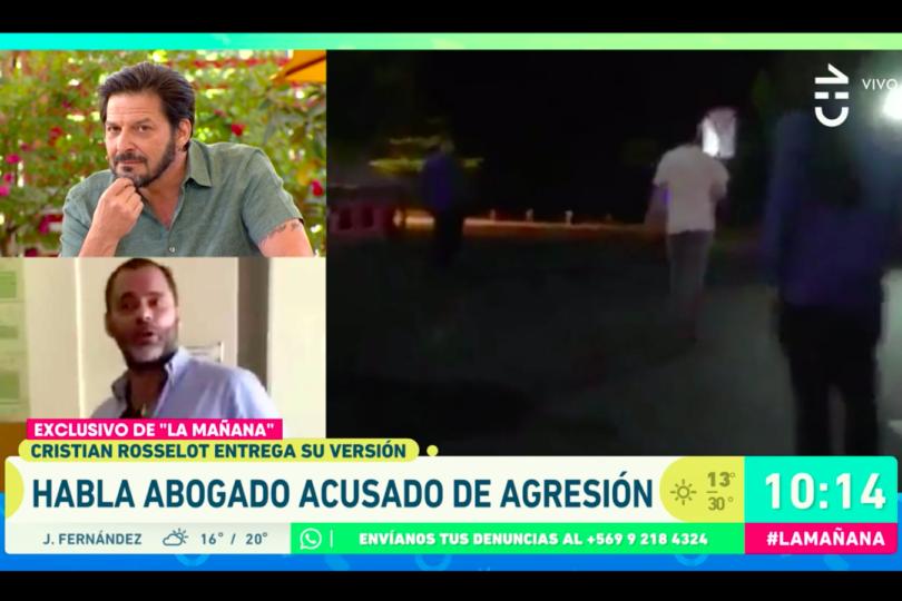 VIDEO |Cristián Rosselot intentaba explicar en TV altercado en supermercado… hasta que le mostraron nueva grabación