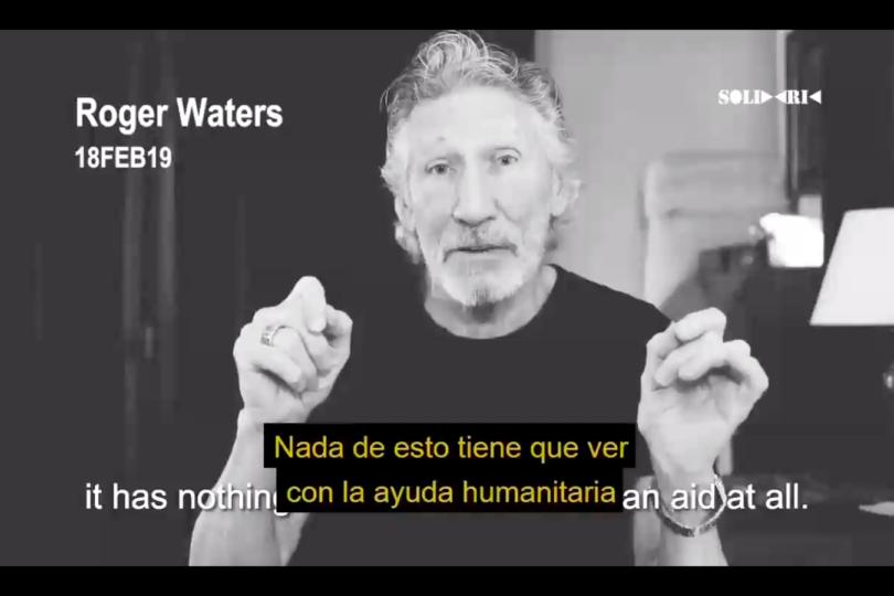 """VIDEO  Roger Waters acusa a multimillonario británico de trabajar con EE.UU. para """"tomar control de Venezuela"""""""