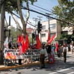 FOTOS | Apoyo a Nicolás Maduro en embajada de Venezuela en Chile terminó con incidentes