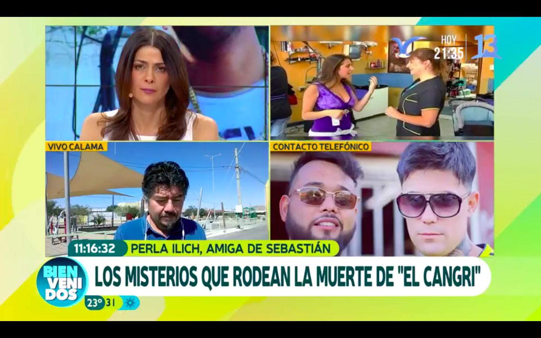 """Perla Ilich rompe en llanto en Bienvenidos y se refiere a la extraña muerte de Sebastián Leiva el """"Cangri"""""""
