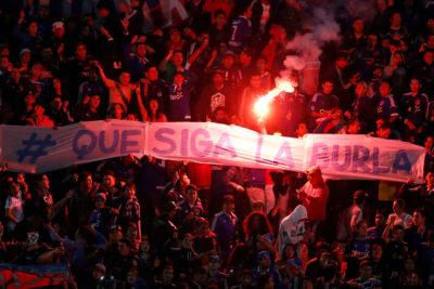 Hinchas de la Universidad de Chile protagonizaron incidentes en la previa al duelo con Melgar