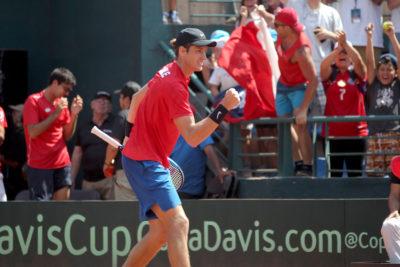 Nicolás Jarry fue elegido como el mejor de la última jornada de la Copa Davis