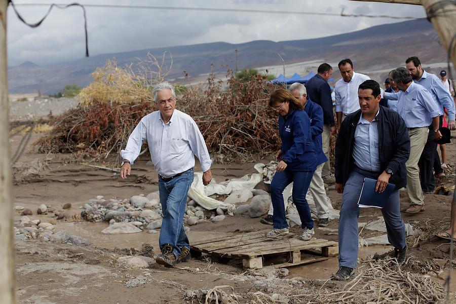 """""""Piñera ante desastres en norte y sur de Chile:"""