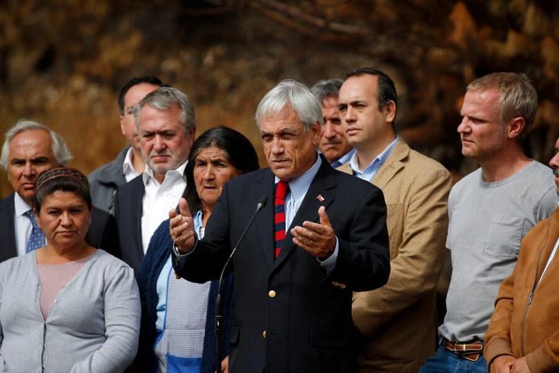Piñera respalda a Carabineros tras revelarse cuota mínima de partes en Cañete